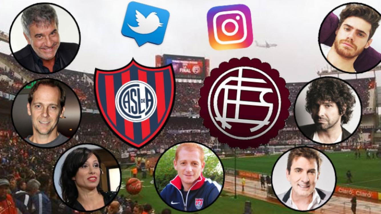 Los mensajes de los famosos por la gran final del fútbol argentino entre San Lorenzo y Lanús.