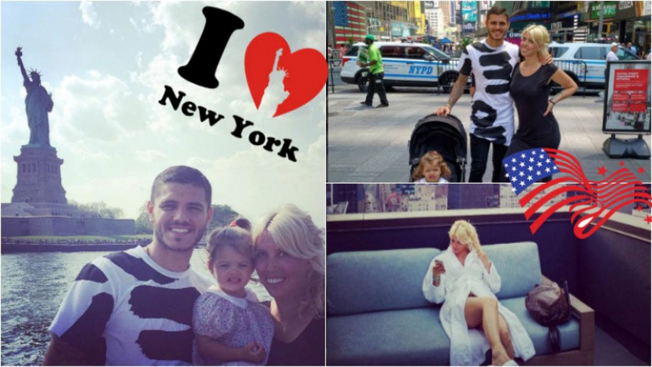 Las fotos de Wanda Nara y Mauro Icardi en Nueva York. Foto: Instagram