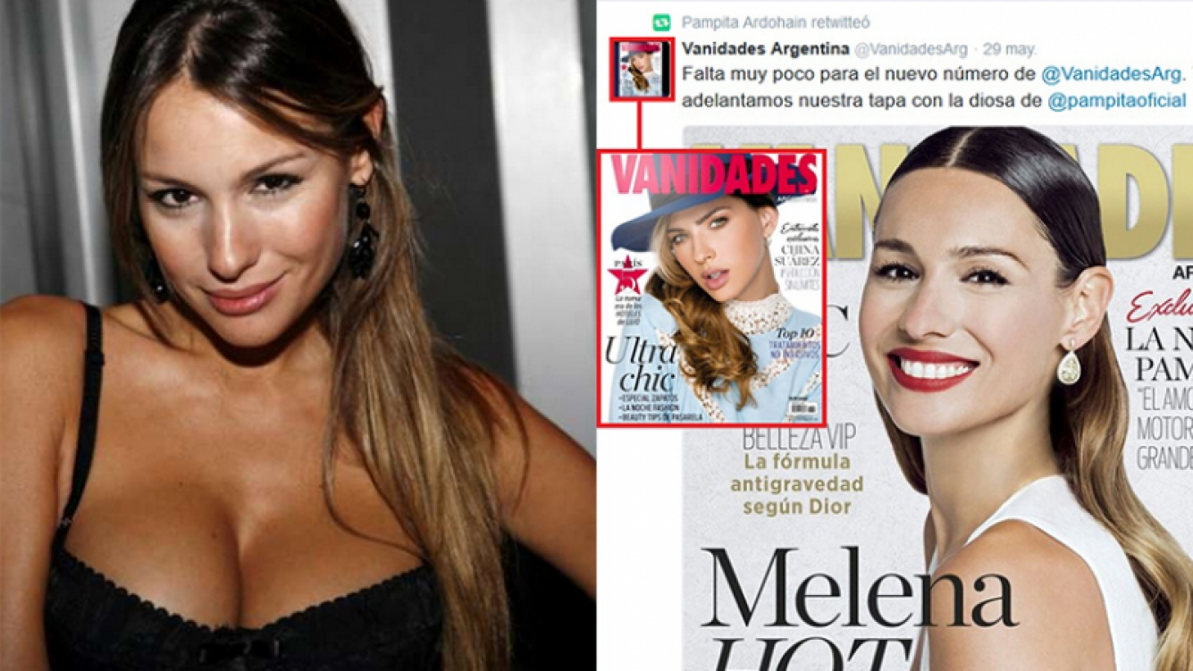 El RT involuntario de Pampita para la China Suárez. Fotos: Twitter y Web.
