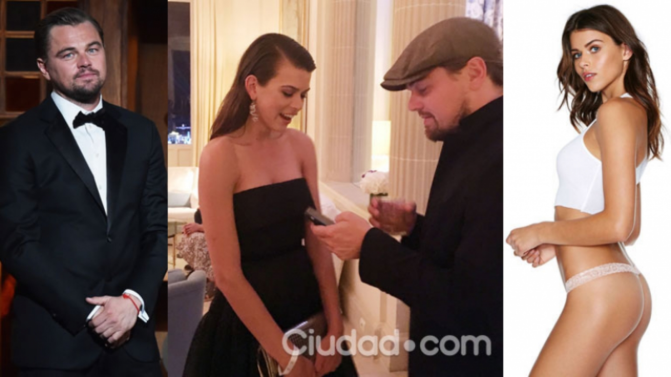 Leonardo DiCaprio y Georgia Fowler, muy cerca en Cannes (Fotos: GrosbyGroup y AFP).