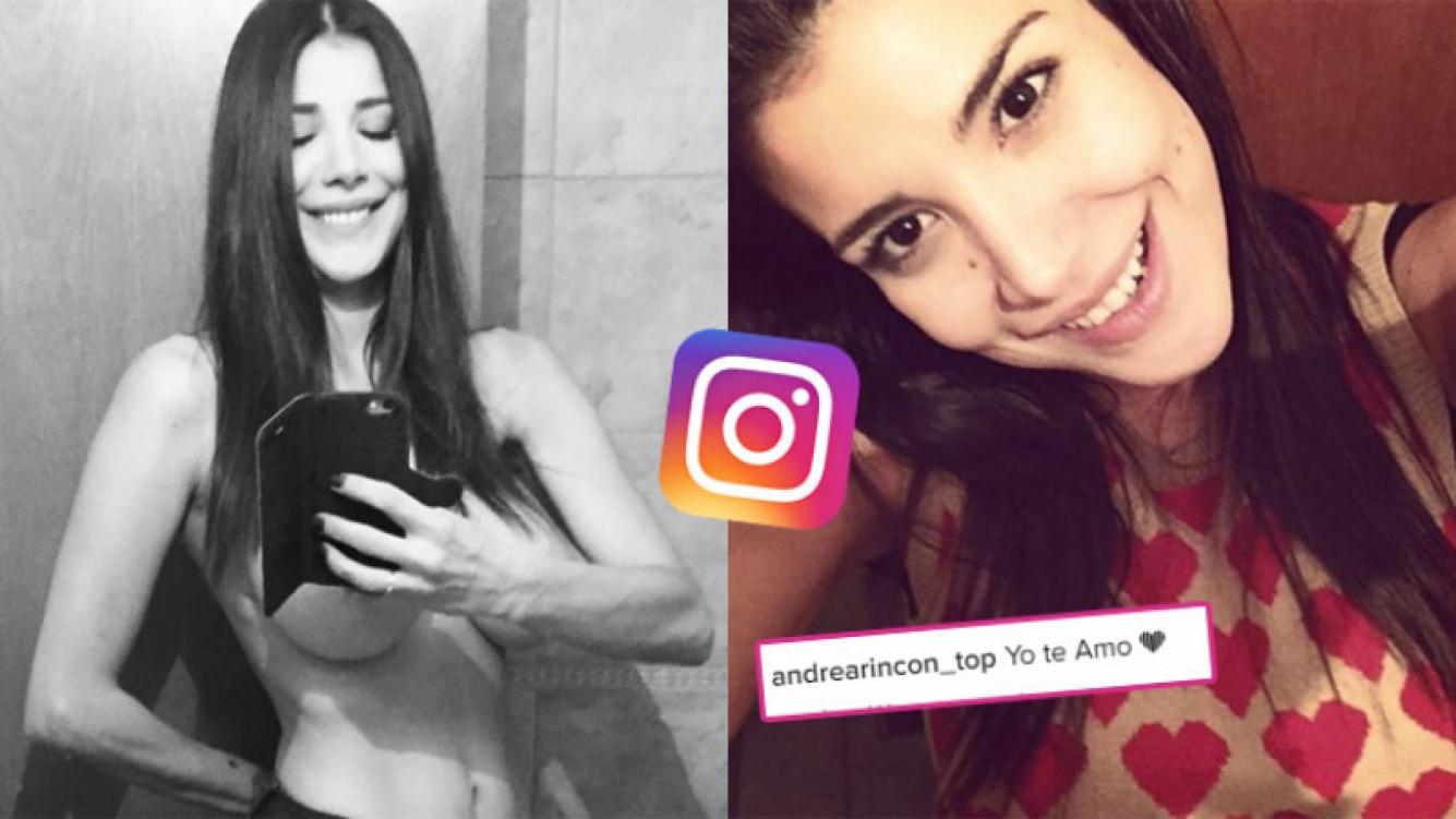 Andrea Rincón calentó las redes sociales con una foto en topless (Fotos: Instagram).