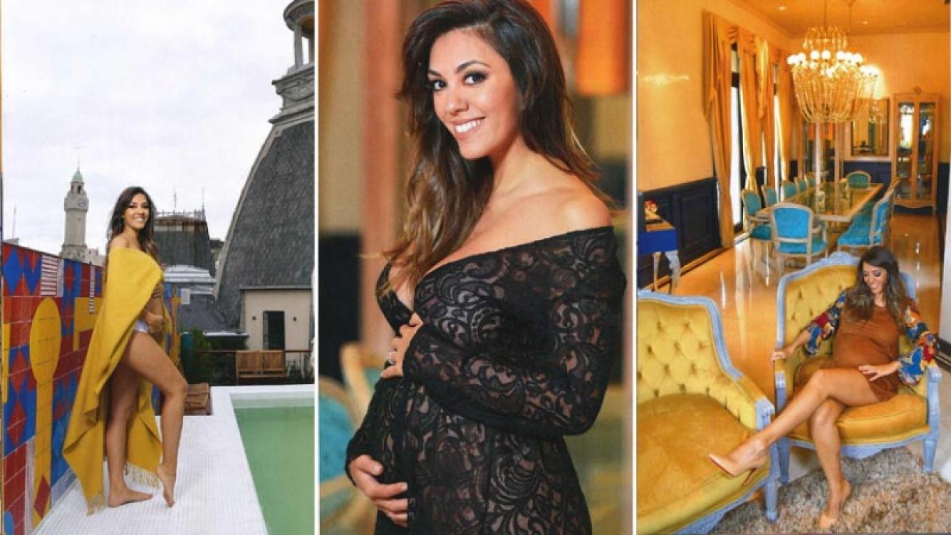 Floppy Tesouro, embarazada de seis meses, convive en un exclusivo pent house con Rodrigo Fernández Prieto. (Foto: revista Caras)