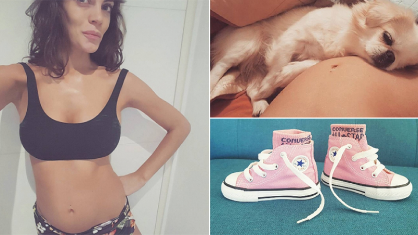 Emilia Attias mostró más fotos de su dulce espera en Instagram.