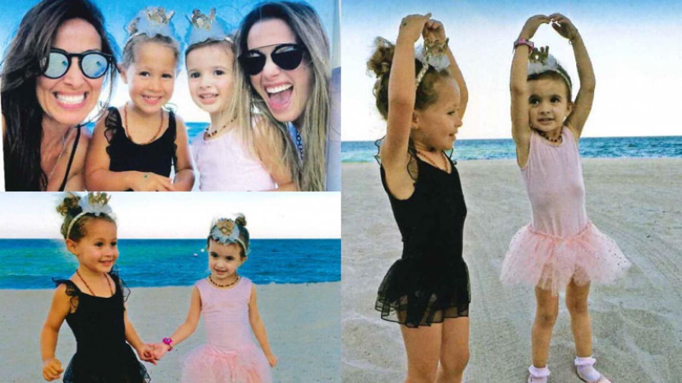 Débora Bello y Chechu Bonelli junto a sus hijas en Miami (Fotos: ¡Hola! Argentina).