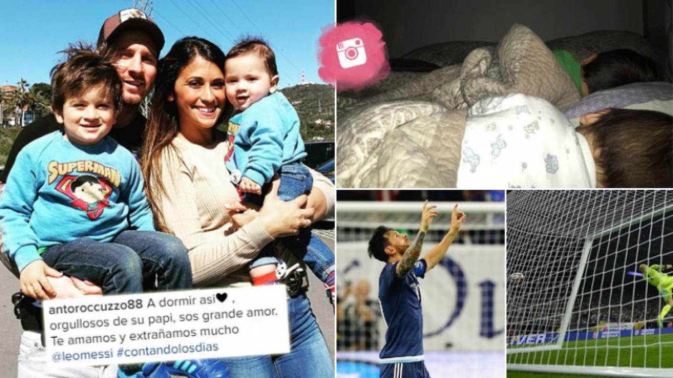 La tierna foto que Antonella le dedicó a Messi por su récord en la Selección. (Foto: Instagram)