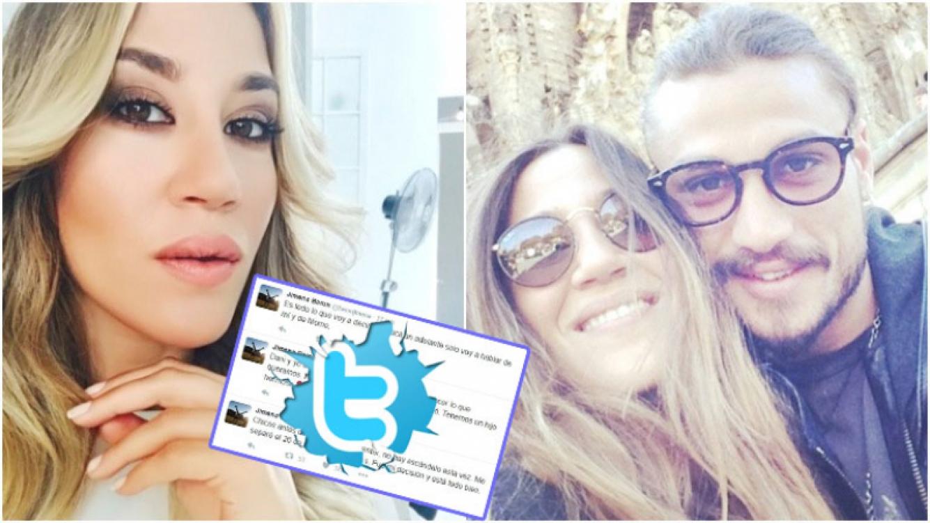 Jimena Barón confirmó su separación de Daniel Osvaldo en Twitter (Fotos: Web)