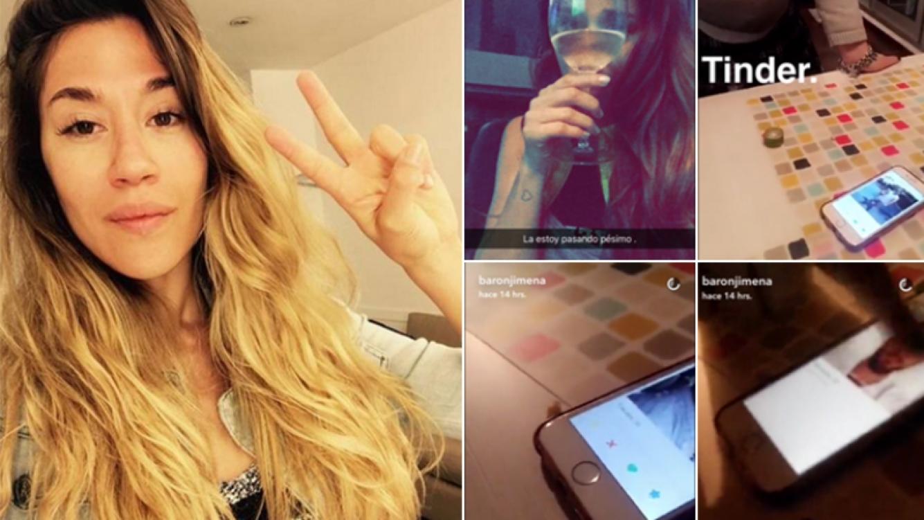 Jimena Barón dio sus primeros pasos en Tinder. Fotos: Instagram y Snapchat.