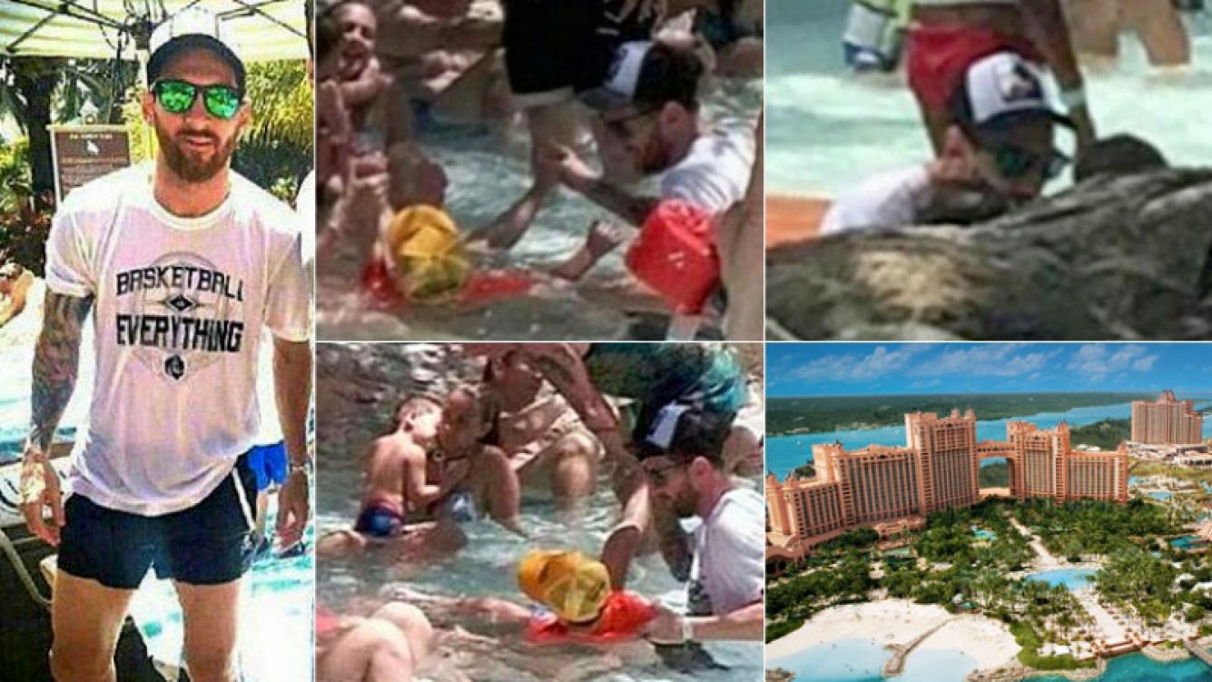 Las paradisíacas vacaciones familiares de Messi en Bahamas. (Foto: Web)