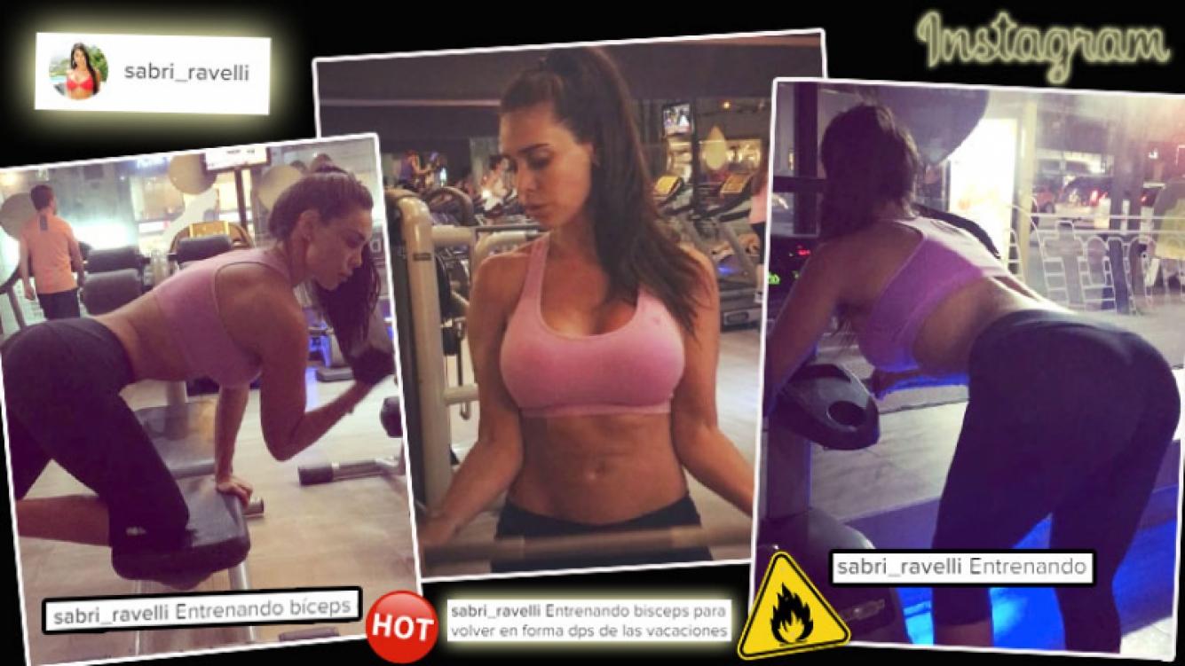 ! La rutina de gym hot de Sabrina Ravelli. (Foto: Instagram)