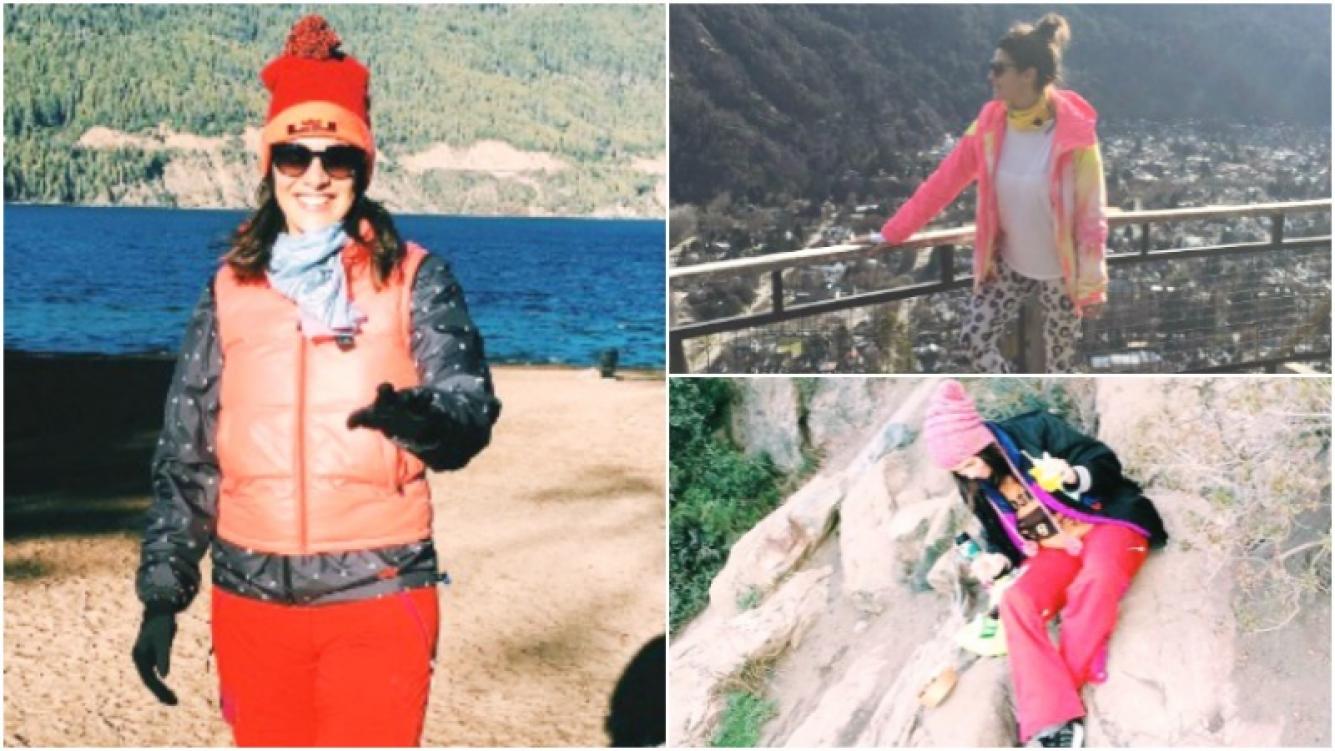 Las vacaciones de Ivana Nadal en San Martín de los Andes (Fotos: Twitter)