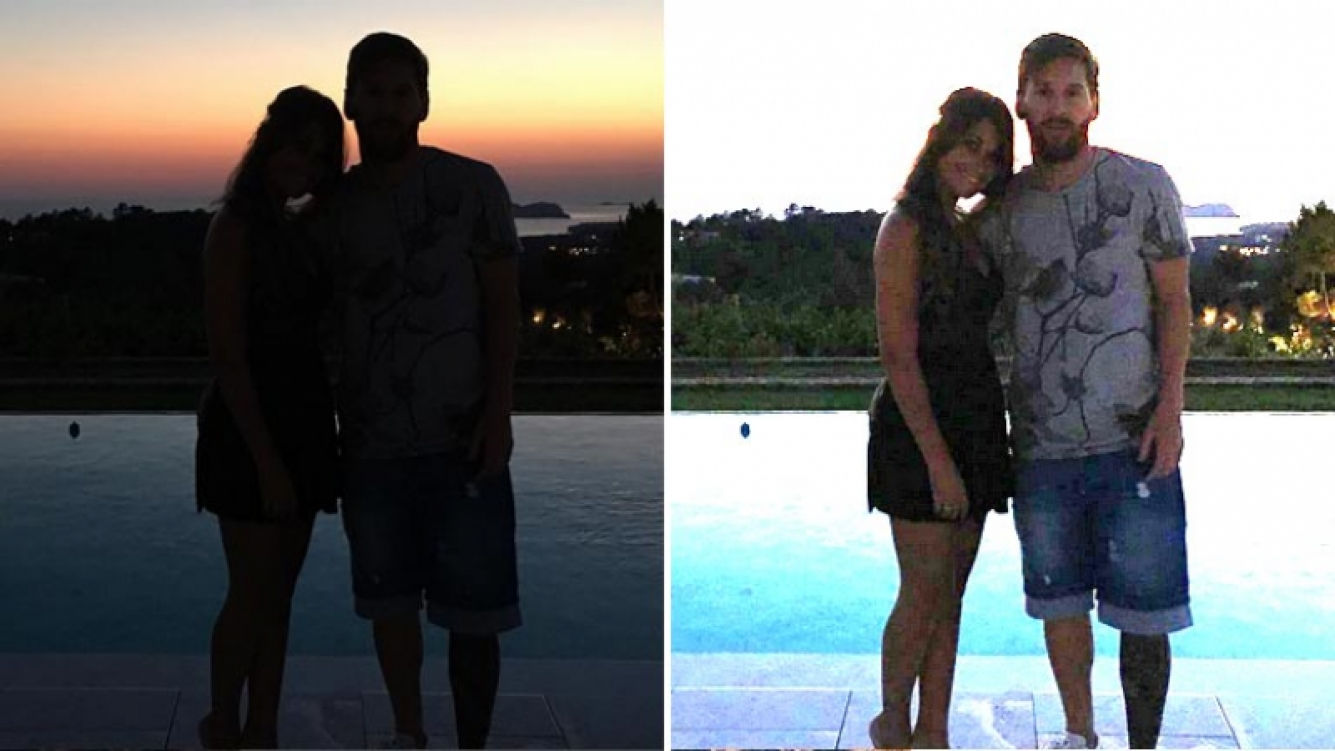 """Antonella Roccuzo y Lionel Messi, """"enamorados"""" en Bahamas.  (Foto: Instagram"""