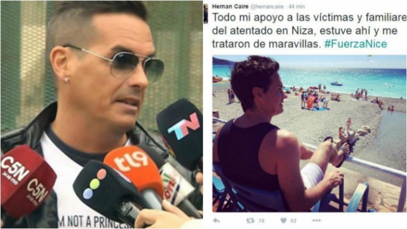 El criticado tweet de Hernán Caire sobre el atentado de Niza. Foto: Web