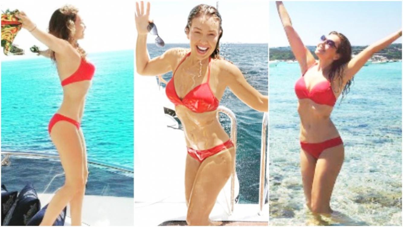 Thalía, una diosa de 44 años suelta en Italia (Fotos: Instagram)