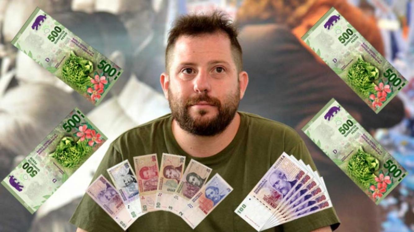 José Ottavis ganó 670.000 pesos en la lotería. (Foto: Web)