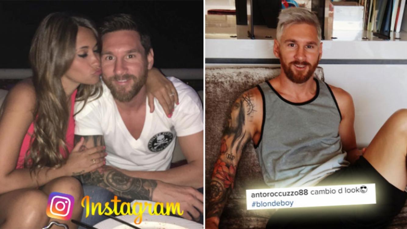 El glamoroso y platinado nuevo estilo de Messi. (Foto: Instagram)