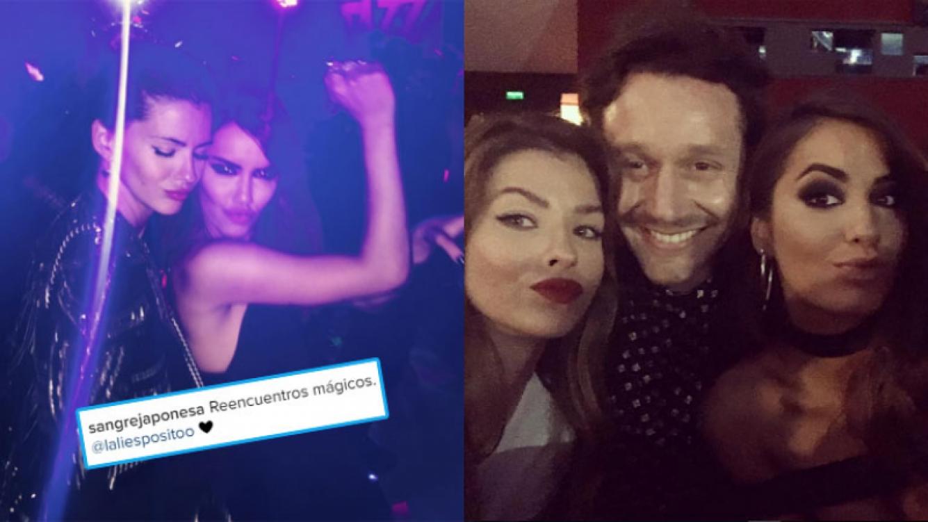 La China Suárez y Lali Espósito, divertidas tras el estreno de Permitidos (Fotos: Instagram).