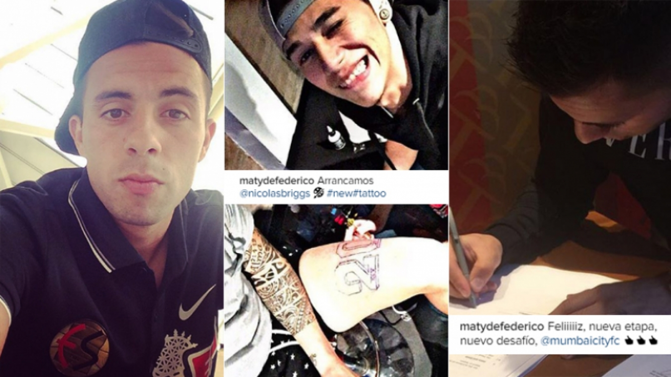 Matías Defederico habló de su nuevo tatuaje y de su inminente viaje a la India (Foto: Instagram)