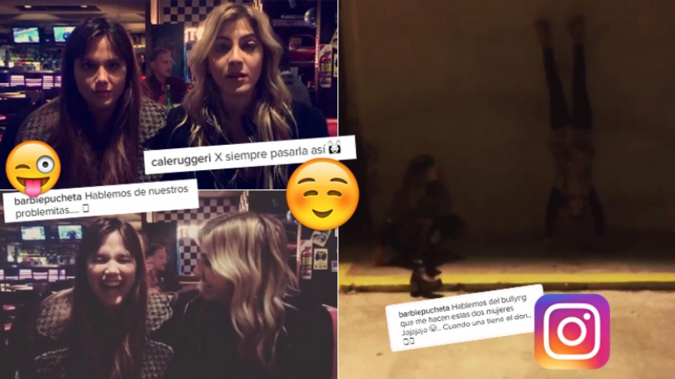 Barbie Vélez y Candela Ruggeri, divertidas en las noche porteña (Foto: Instagram)