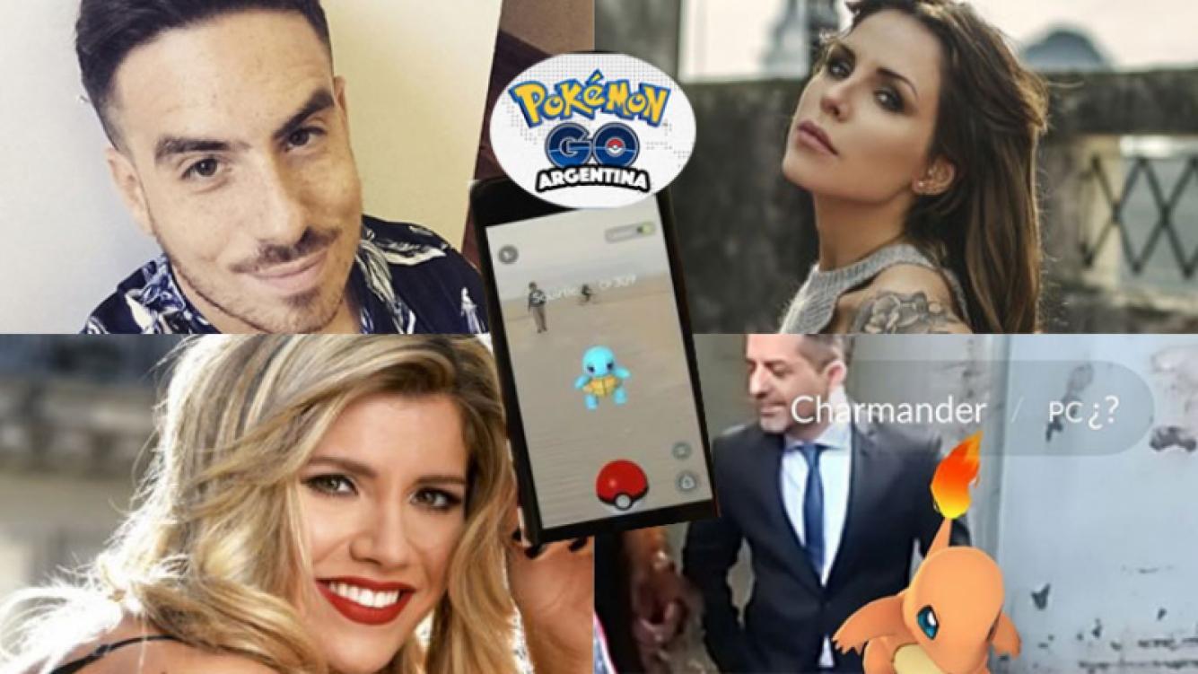 Los famosos y sus reacciones ante la llegada de Pokémon Go (Fotos: Web).
