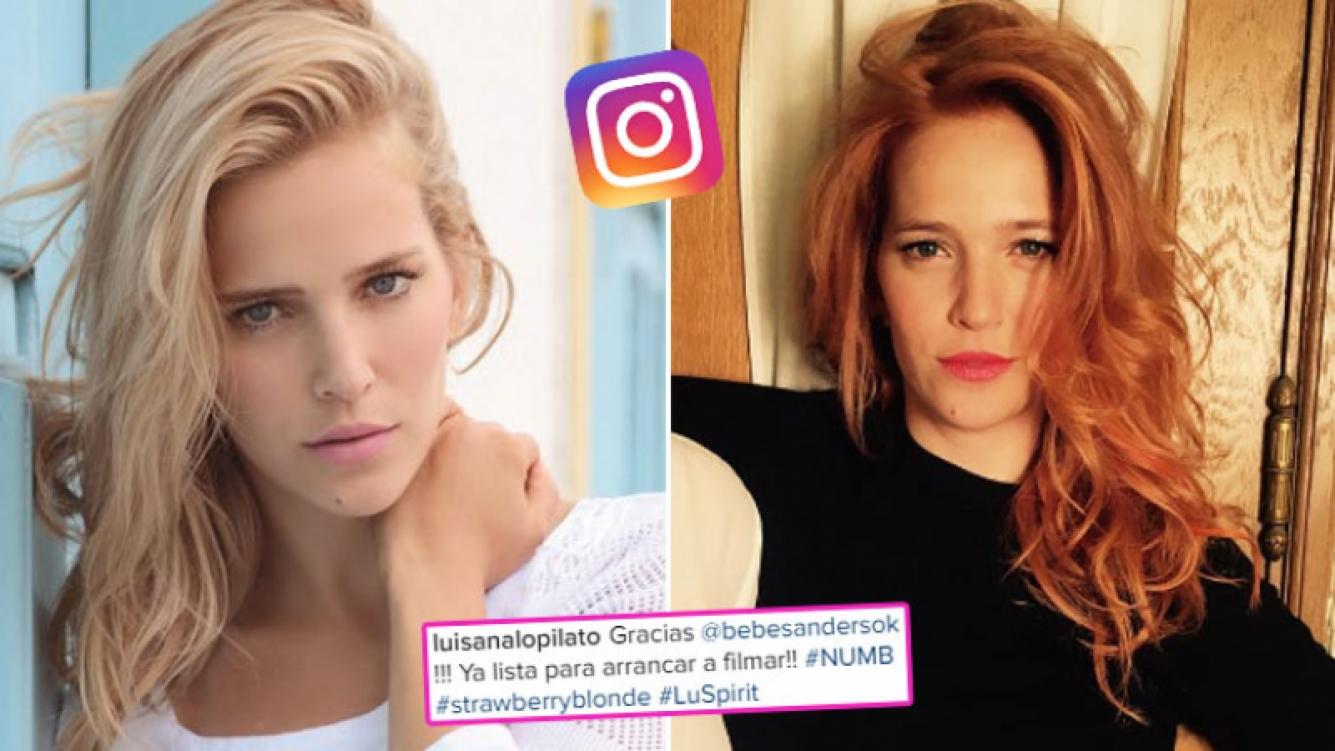 ¡Pelirroja ardiente! El radical cambio de look de Luisana Lopilato. (Foto: Instagram)