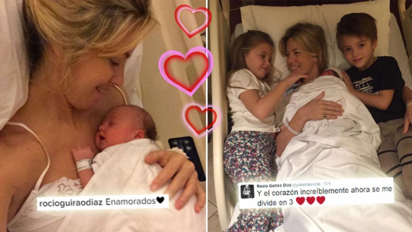 Rocío Guira Díaz y la foto del tierno primer encuentro de sus hijos. (Foto: Instagram y Twitter)