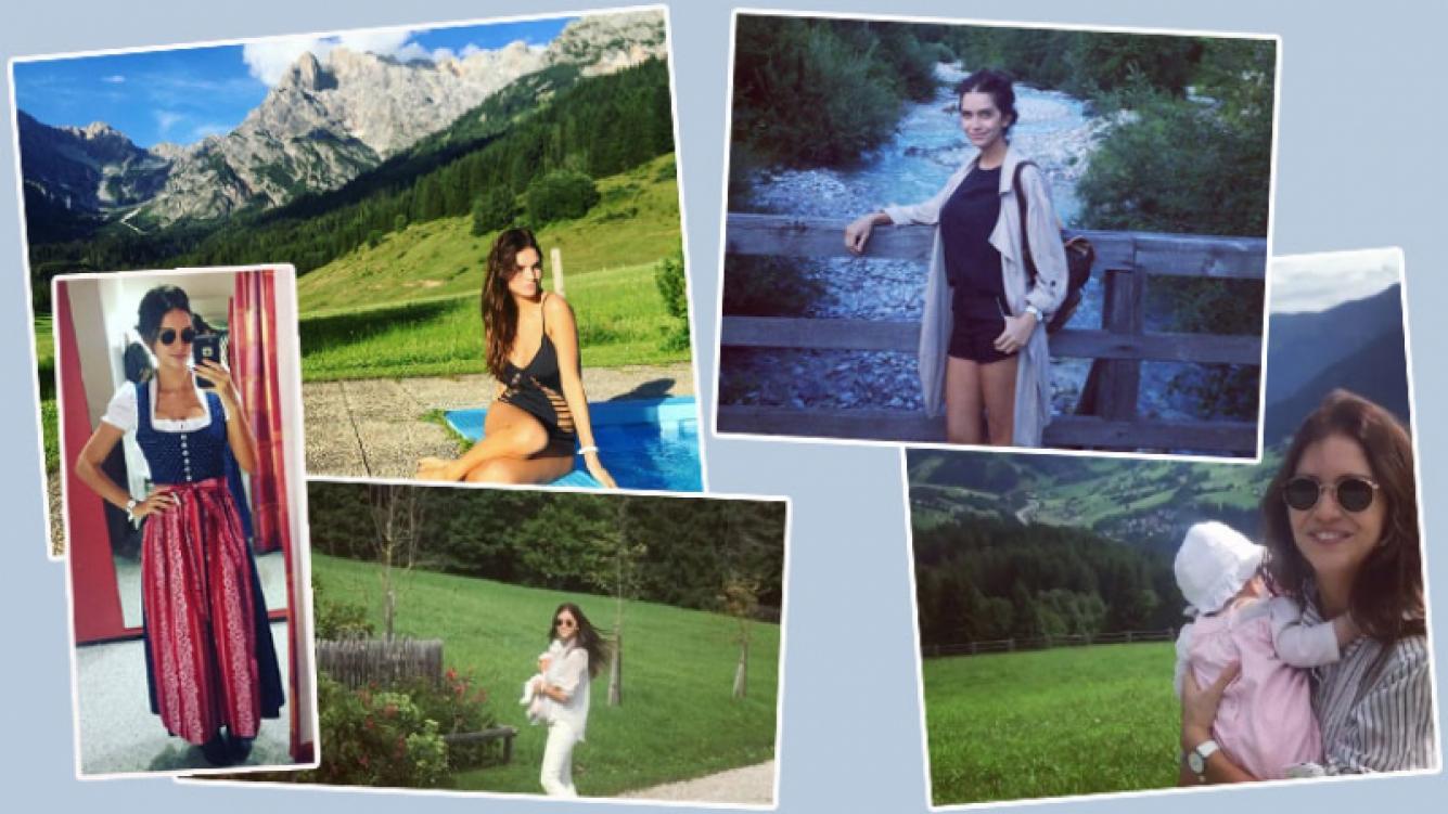 Zaira Nara viajó con Malaika a Austria (Foto: Instagram)