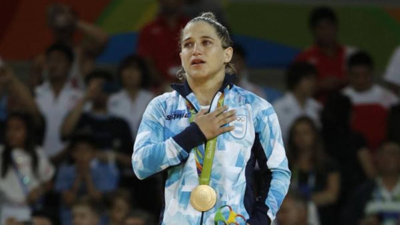 Paula Pareto, la primera medalla de Oro para Argentina: los mensajes de los famosos. Foto: AFP