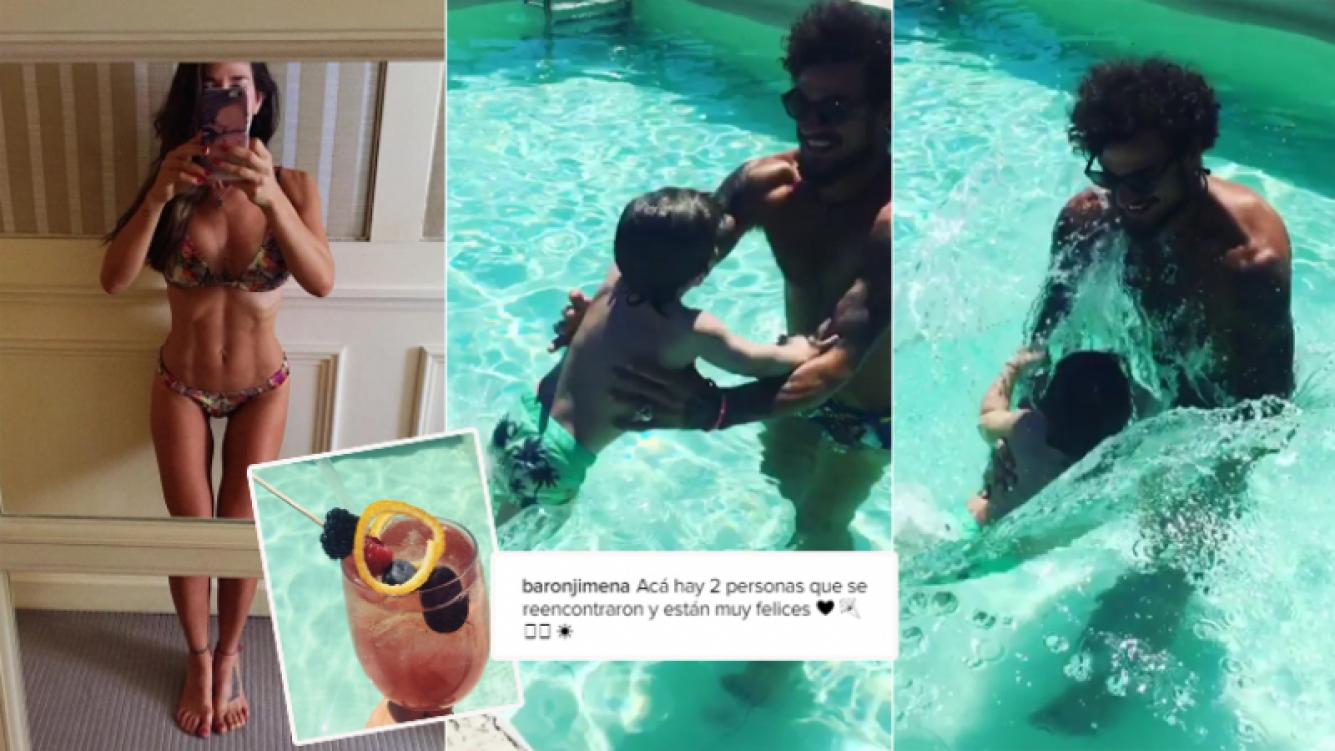 Jimena Barón viajó con su hijo a Barcelona (Foto: Instagram)
