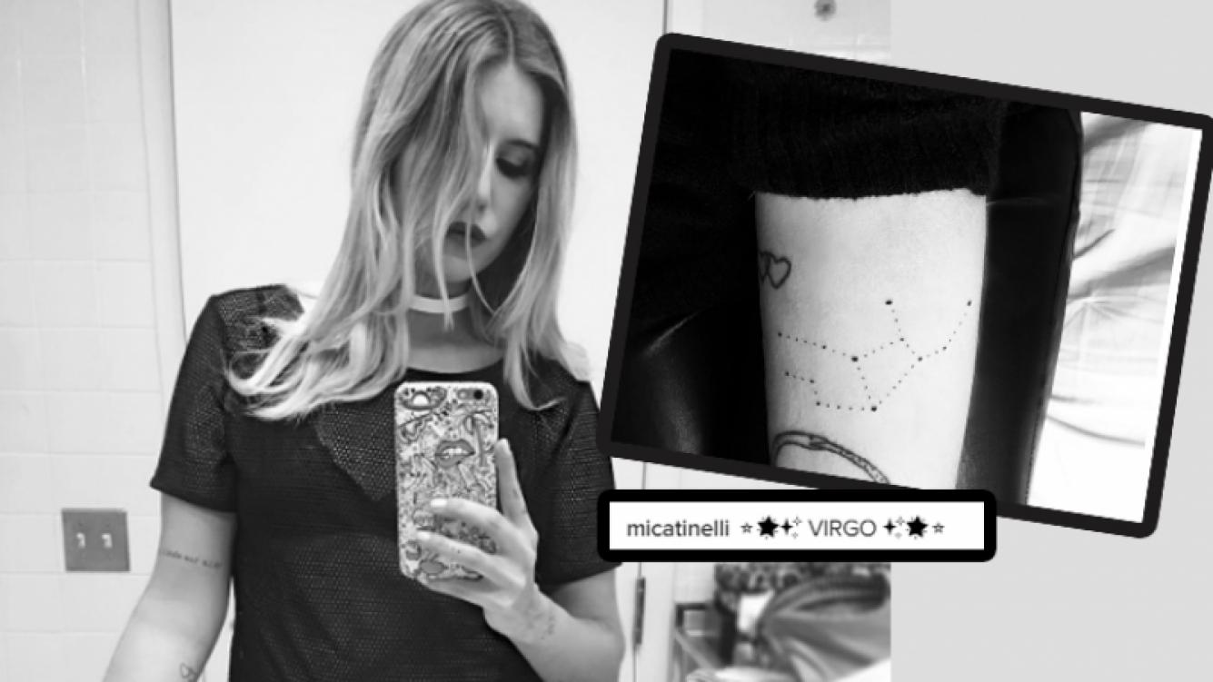 Micaela Tinelli, fanática de la astrología, se hizo un tatuaje estelar (Foto: Instagram)