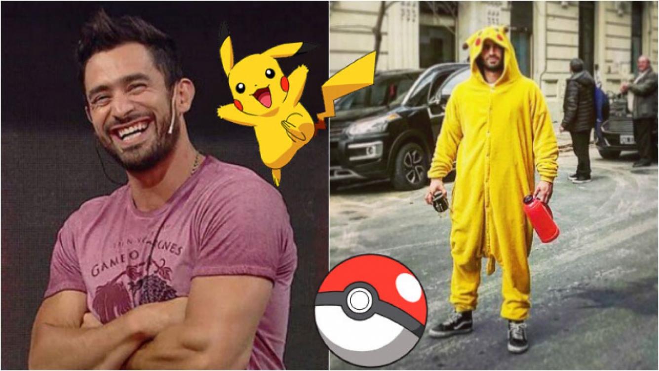 El Tucu López se animó… ¡y salió a la calle como Pikachu! Foto: Instagram