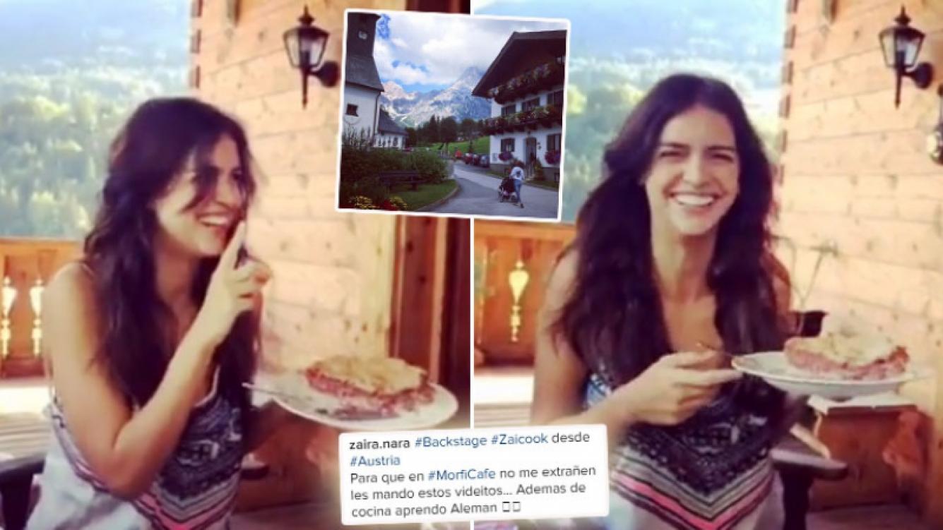 """¡Imposible de pronunciar! Los divertidos videos de Zaira Nara """"hablando"""" alemán en Austria. (Foto: Web)"""