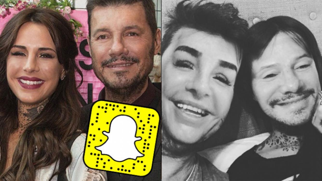 Marcelo y Candelaria Tinelli se divirtieron con Snapchat (Fotos: Web e Instagram).