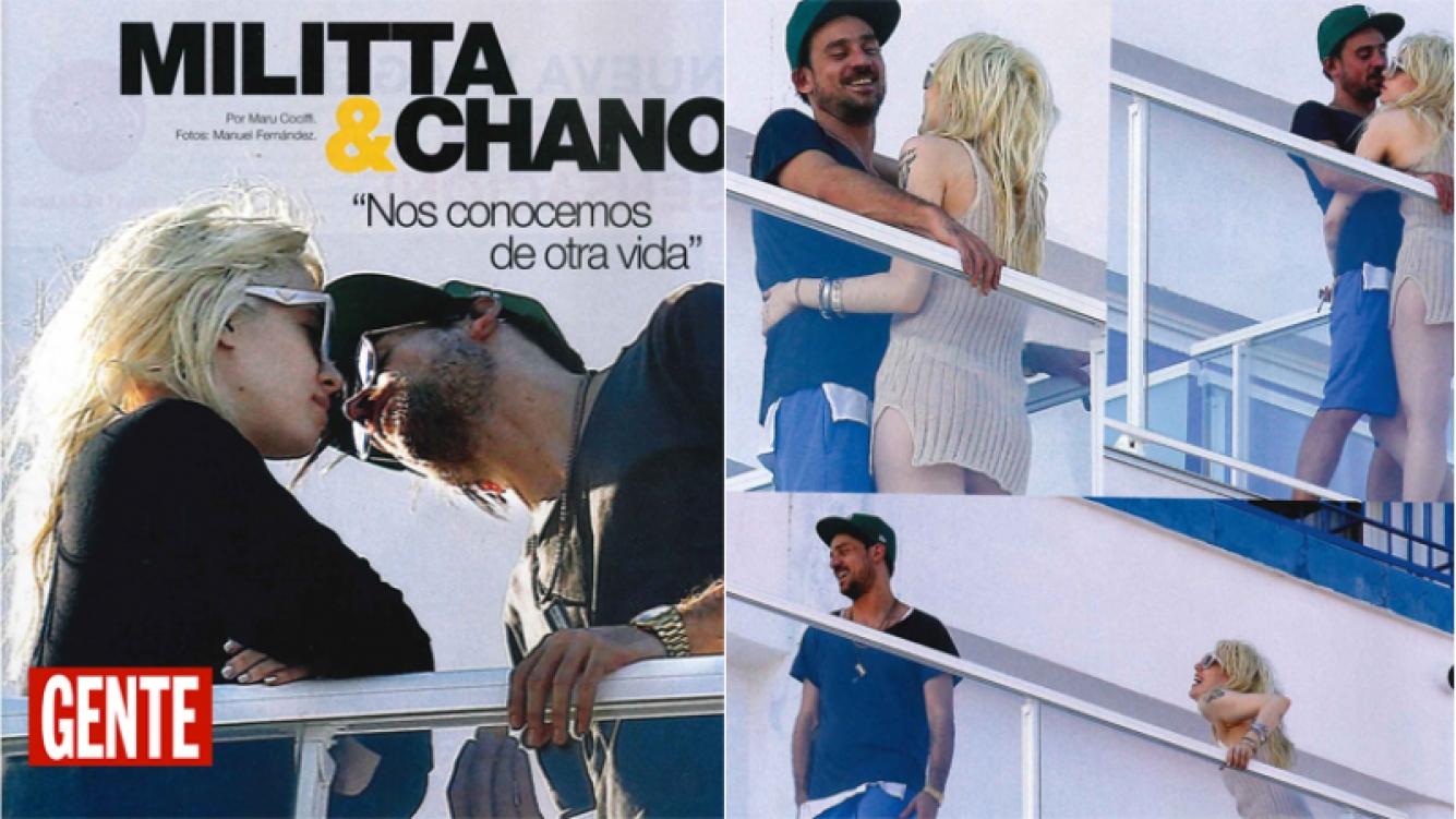 Chano y Militta Bora, las fotos de su apasionado romance en Barcelona (Foto: revista Gente)