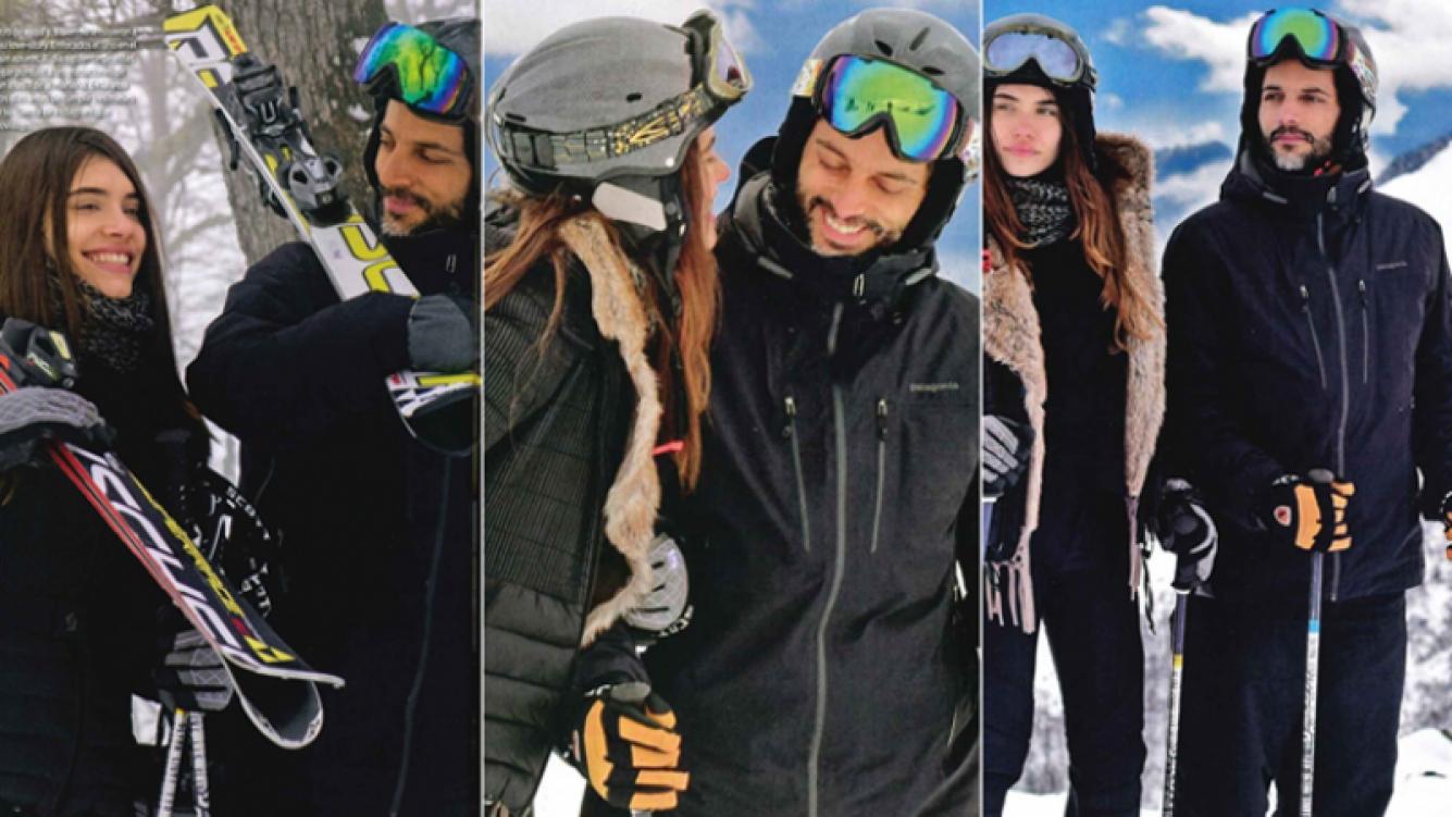 Joaquín Furriel y Eva de Dominici, en unas románticas vacaciones en la nieve (Fotos: revista ¡Hola! Argentina)