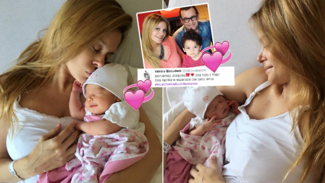 Vanina Escudero presentó a Joaquina, su beba recién nacida (Foto: Twitter)