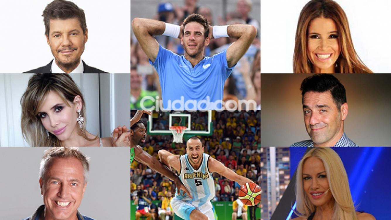 Los famosos celebraron los triunfos albicelestes en Río 2016 (Fotos: AFP y Web).
