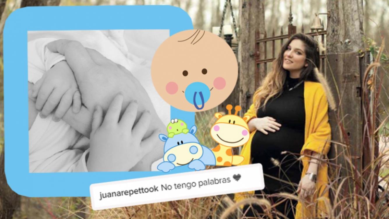 La dulce foto de Juana Repetto de la mano de su bebé (Foto: Instagram)
