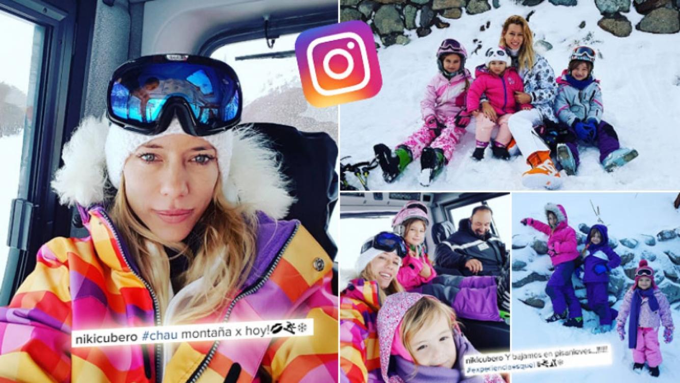 Los días de Nicole y sus hijas en la nieve patagónica. (Foto: Instagram)