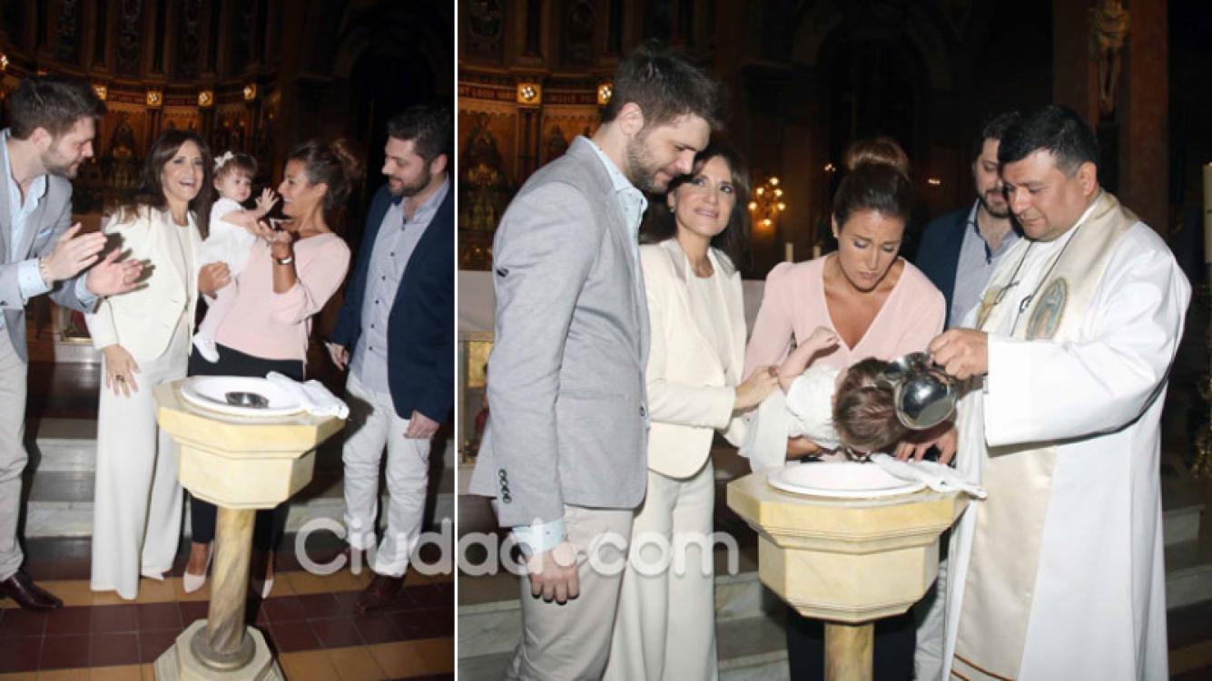 Las fotos del emotivo bautismo de Giovanna, la hija de María Fernanda Callejón. (Foto: Movilpress)