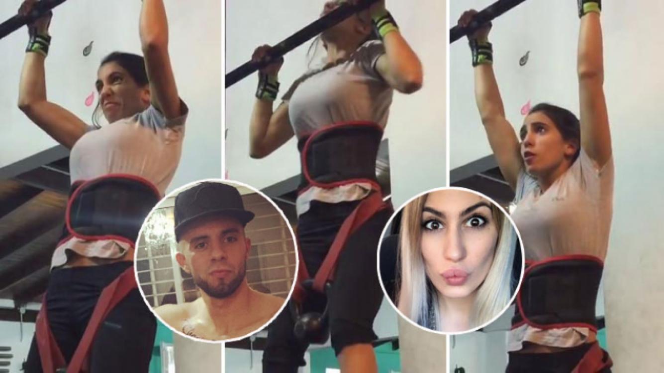 Cinthia Fernández descarga su ira en el gym (Fotos: Capturas).