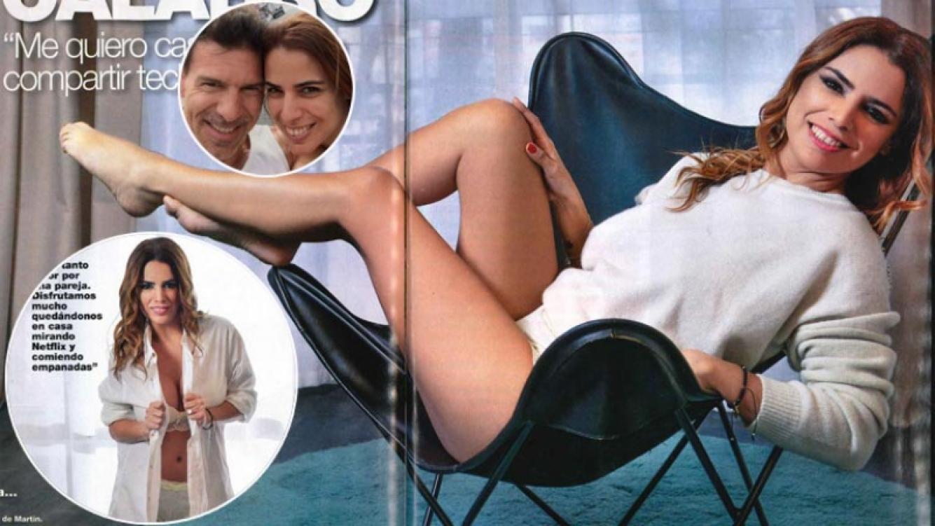 Marina Calabró y Martín Albrecht, ¿casados y en techos separados?  (Foto: revista Caras)