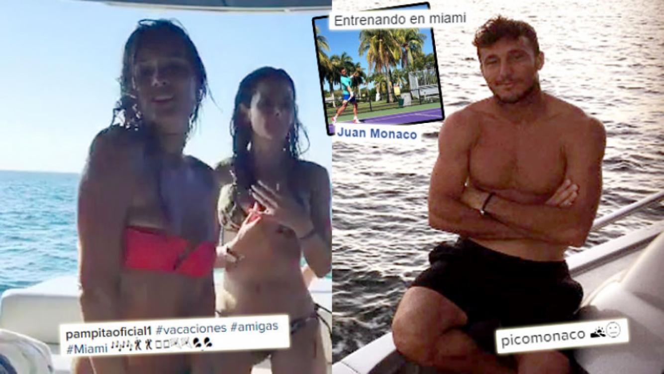 Pampita y Pico Mónaco, en Miami: su nueva coincidencia geográfica. Foto: Instagram