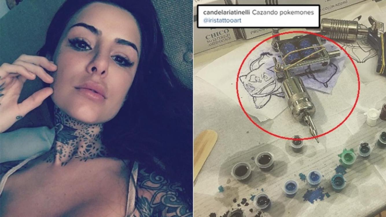 Candelaria Tinelli se tatuó un Pokémon (Foto: Instagram)