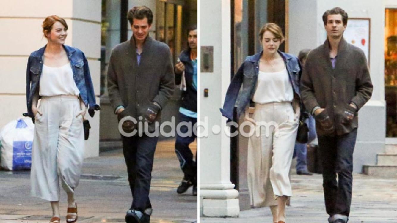 Emma Stone y Andrew Garfield se reconciliaron a un año de su separación. (Foto: Grosby Group)