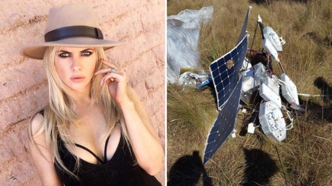 Un globo del Proyecto Loon de Google cayó en un campo perteneciente a la familia de Alejandra Maglietti en Misiones. (Foto: Web y Telam)