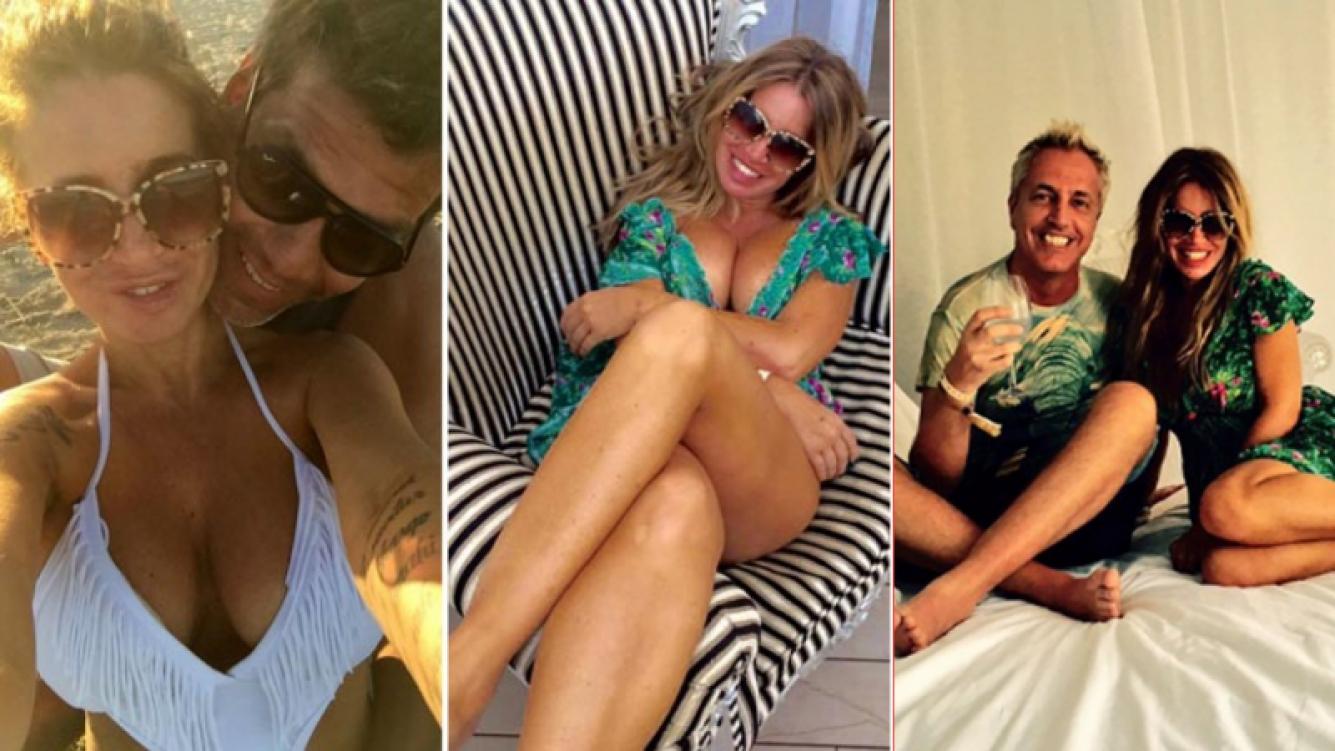 Las postales de las divertidas vacaciones de Florencia Peña con su novio y Marley. Fotos: Instagram