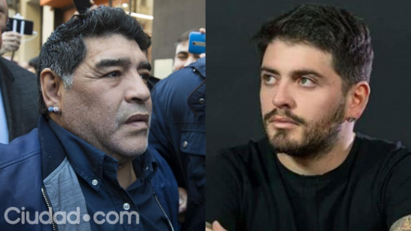 Diego Maradona y Diego Junior tuvieron su esperado reencuentro (Fotos: AFP y Web).