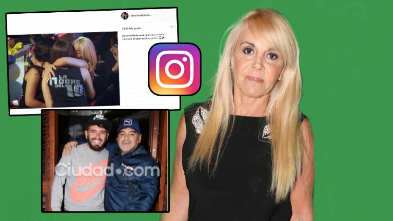 La significativa publicación de Claudia Villafañe (Foto: Instagram y web)