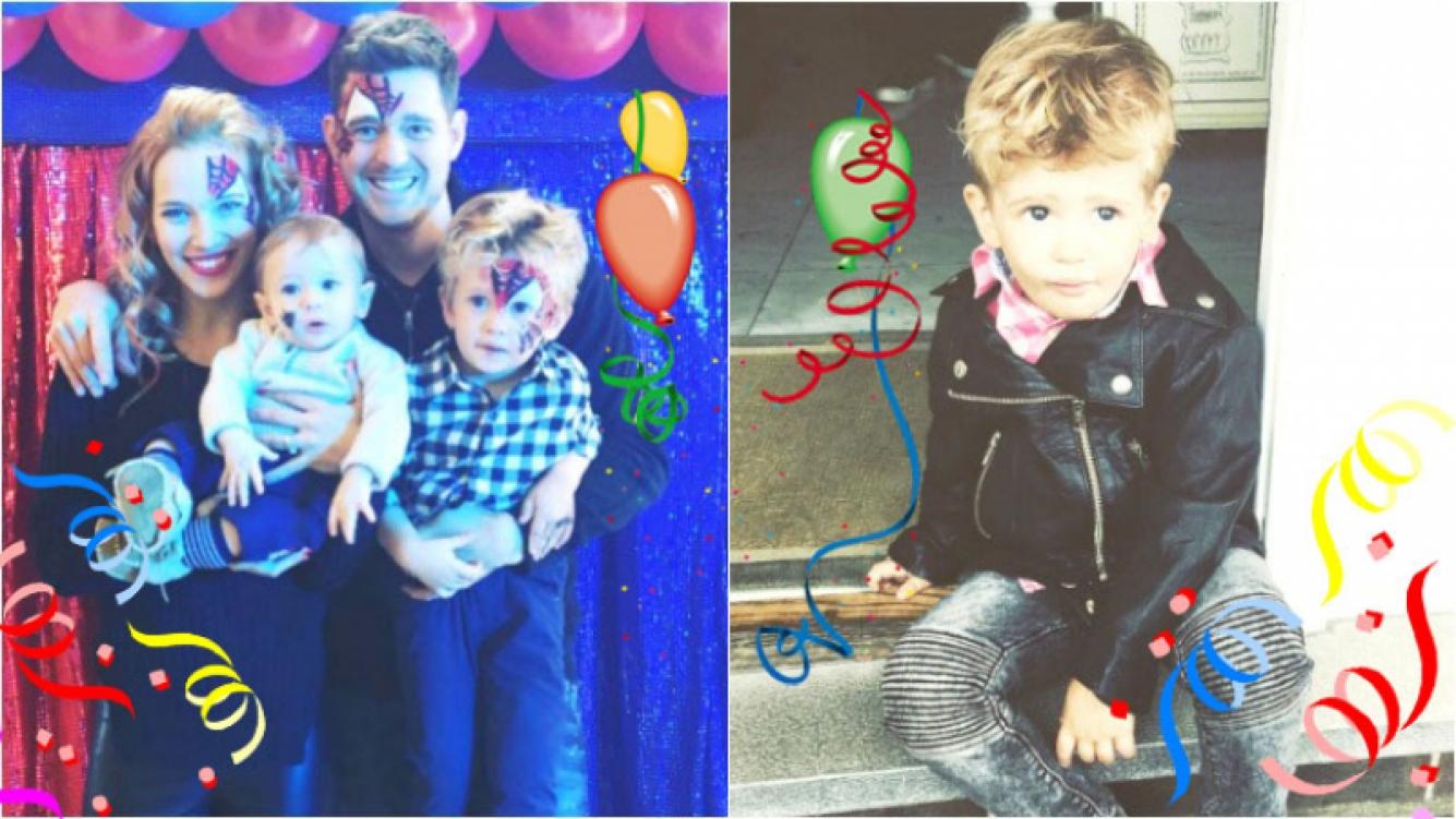 El festejo de cumpleaños de Noah Bublé y los tiernos saludos de sus padres (Fotos: Instagram y Twitter)