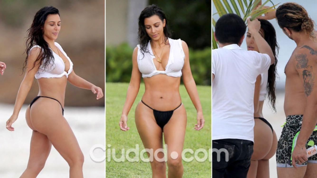 Kim Kardashian Bikini Spandex Photoshoot Pictures To Pin On Pinterest